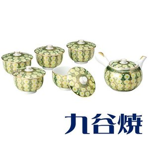 九谷焼 茶器揃え 菊詰 セット(急須×1 湯呑み×5) 九谷焼 茶器セット|shop-adex