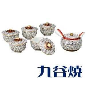 九谷焼 茶器揃え 梅詰 セット(急須×1 湯呑み×5) 九谷焼 茶器セット|shop-adex