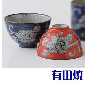 夫婦茶碗 有田焼 濃牡丹唐草 夫婦茶碗|shop-adex