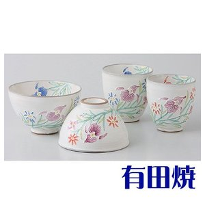 夫婦茶碗・夫婦湯飲みセット 有田焼 花らんまん 夫婦湯のみ・夫婦茶碗|shop-adex