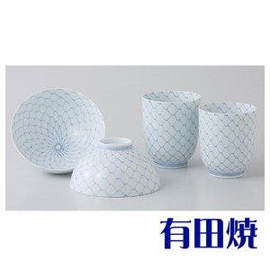 夫婦茶碗・夫婦湯飲みセット 有田焼 光琳内外網 夫婦湯のみ・夫婦茶碗|shop-adex