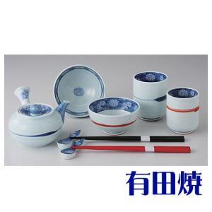 有田焼 夫婦茶碗 伝統の技法で鮮やかに色付けられたお茶碗は、結婚式や還暦祝いなどのお祝い事の席に使用...
