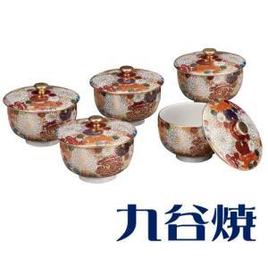 九谷焼 5客湯呑み 花詰5客セット 湯のみ 九谷焼|shop-adex