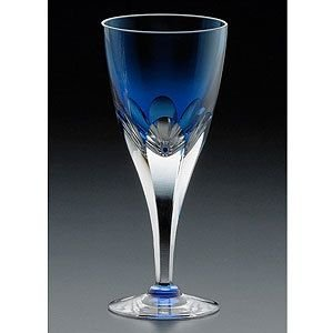 カガミクリスタル ロイヤルライン(K8) ワイングラス(ロイヤルブルー) カガミクリスタル shop-adex