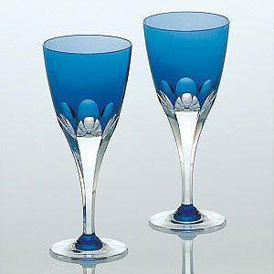 カガミクリスタル ロイヤルブルー ペアワイングラス カガミクリスタル shop-adex