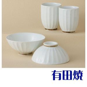 夫婦茶碗・夫婦湯飲みセット 有田焼 白磁手彫 夫婦湯のみ・夫婦茶碗|shop-adex