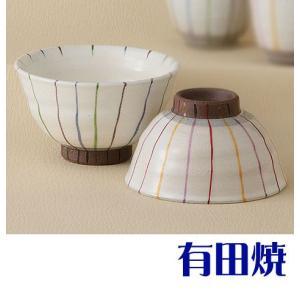 夫婦茶碗 伝統の技法で鮮やかに色付けられたお茶碗は、結婚式や還暦祝いなどのお祝い事の席に使用されたり...