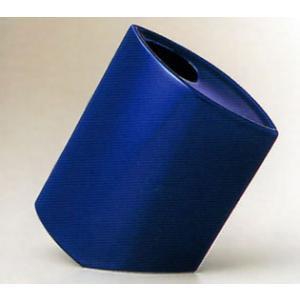 白山陶器 花瓶 NANAME(ななめ) 紺青 白山陶器|shop-adex