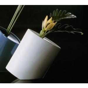 白山陶器 花瓶 NANAME(ななめ) 白磁 白山陶器|shop-adex