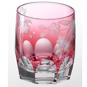 カガミクリスタル ロックグラス 桜 カガミクリスタル|shop-adex