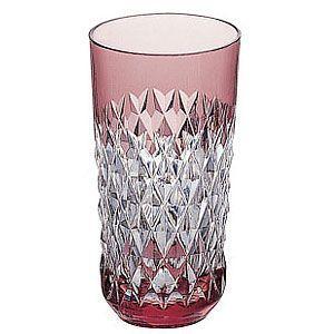 カガミクリスタル 色被せクリスタルグラス タンブラー(赤) カガミクリスタル|shop-adex