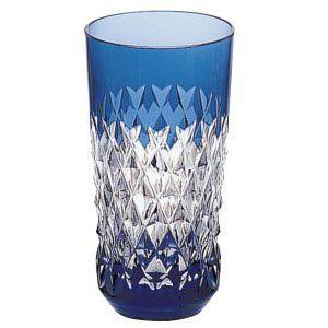 カガミクリスタル 色被せクリスタルグラス タンブラー(青) カガミクリスタル|shop-adex