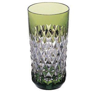 カガミクリスタル 色被せクリスタルグラス タンブラー(緑) カガミクリスタル|shop-adex
