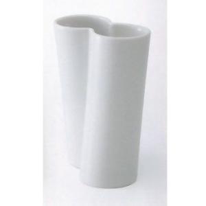 白山陶器 花瓶 ツイスト ダブル 乳白 白山陶器|shop-adex