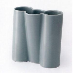 白山陶器 花瓶 ツイスト トリプル 乳グレイ 白山陶器|shop-adex