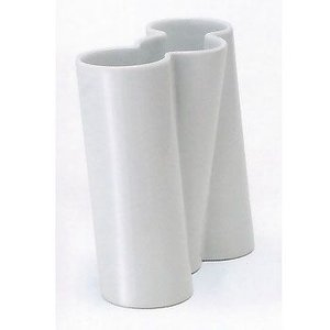 白山陶器 花瓶 ツイスト トリプル 乳白 白山陶器|shop-adex
