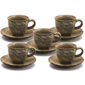 コーヒーカップ 信楽焼 野分 5客セット|shop-adex