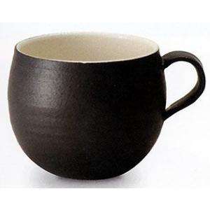 信楽焼 カフェマグカップ ブラック |shop-adex