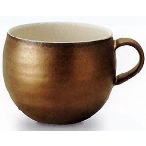 信楽焼 カフェマグカップ ゴールド |shop-adex