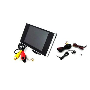 3.5インチ ミニオンダッシュ 液晶モニター + バックカメラセット 映像2入力 バックカメラ コントロール 入力装備 12V 車用 ALW-OMT35+BK200