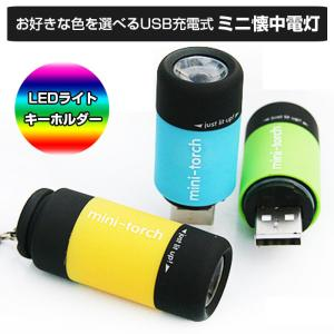 懐中電灯 LEDライト 充電式 USB キーホルダー 全8色|shop-always