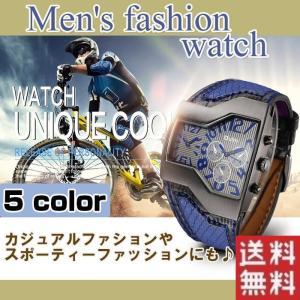 腕時計 スポーツ アンティーク カラーステッチベルト メンズウォッチ|shop-always