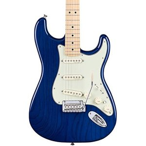 フェンダーFender Deluxe Stratocaster Electric Guitar, Maple Fingerboard, Sapphire Blue Transparent|shop-angelica