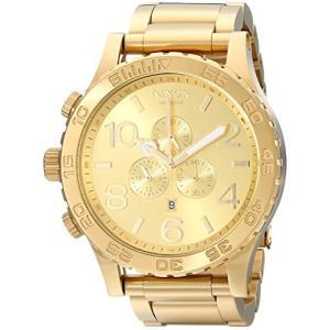 当店1年保証 ニクソンNIXON 51-30 Chrono A091 - All Gold - 308M Water Resistant Men's Analog Fashion Watch (51mm Watch Fa|shop-angelica