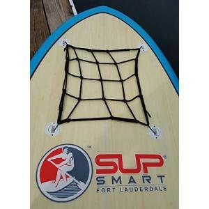 スタンドアップパドルボードSUPSmart Stand Up Paddle Board Cargo Net with 4 Anchors allowing Bungee to Stretch Securing|shop-angelica