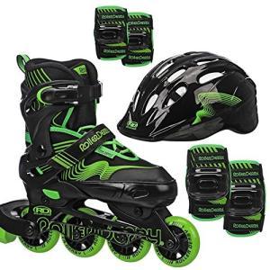 インラインスケートRoller Derby Carver Boys Inline Skates and Protective Pack (Helmet, Elbow Pads, Knee Pads)|shop-angelica