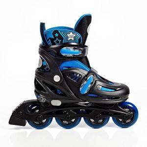 インラインスケートHigh Bounce Adjustable Inline Skate (Blue, X-Large (9-12) ABEC 7)|shop-angelica