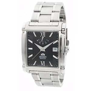 当店1年保証 オリエントORIENT Classic Automatic Power Reserve Black Dial Rectangular Steel Watch FDAH003B|shop-angelica