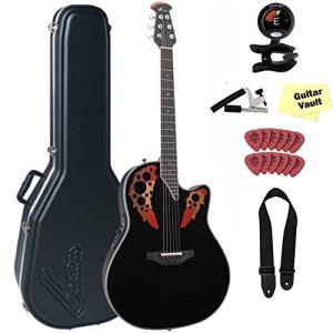 オベーションOvation C2078AX-5 Custom Elite Deep Contour Black with Case and guitarVault Accessory Pack|shop-angelica