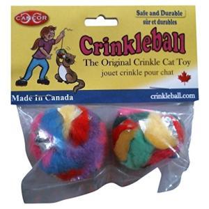 猫おもちゃCancor Innovations Mini Crinkle Ball Cat Toy (2 Pack)|shop-angelica
