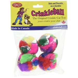 猫おもちゃCancor Innovations Mini Crinkle Ball Cat Toy (4 Pack)|shop-angelica