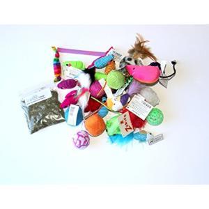猫おもちゃMidlee Variety Pack Cat Toys with Free Bag of Catnip, Pack of 15 Toys|shop-angelica