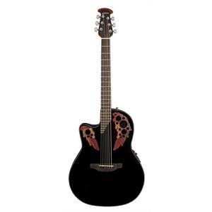 オベーションOvation Celebrity Collection 6 String Acoustic-Electric Guitar, Left, Black (CE44L-5)|shop-angelica