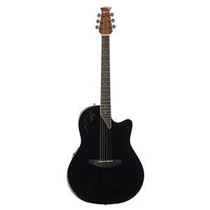 オベーションOvation Applause 6 String Acoustic-Electric Guitar, Right, Black, Mid-Depth (AE44II-5)|shop-angelica
