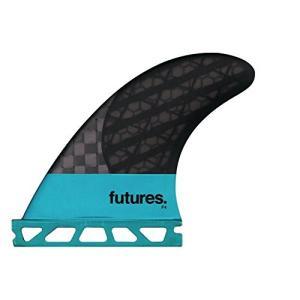 サーフィンFutures F4 Blackstix 30 Thruster Fin Small Turquoise/Carbon|shop-angelica