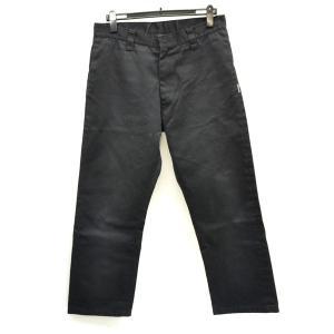 13ae16244be4e BOUNTY HUNTER   バウンティーハンター ワークパンツ ブラック 刺繍ロゴ XLサイズ オシャレ カッコイイ シンプル メンズ 中古
