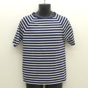 SAINT JAMES / セントジェームス  半袖Tシャツ/ボーダー/ブルー/サイズUSA:40(...