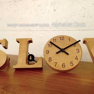 壁掛け時計 ウォールクロック Alphabet Clock アルファベットクロック スイープ INTERFORM インターフォルム cl-1694 置き時計|shop-askm