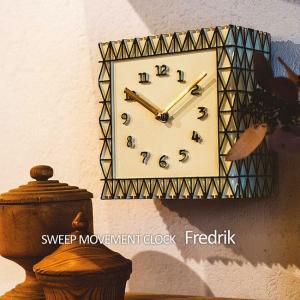 壁掛け時計 ウォールクロック  Fredrik フレドリク スイープ 音が鳴らない cl-1693 置き時計|shop-askm