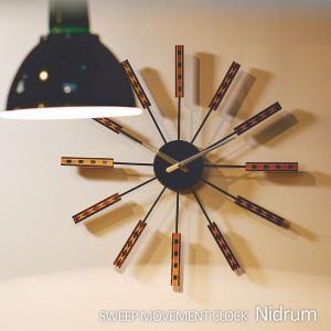 壁掛け時計 ウォールクロック Nidrum ニドルム スイープ INTERFORM インターフォルム cl-2556|shop-askm