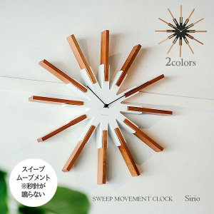 壁掛け時計 ウォールクロック  Sirio シリオ スイープ 音が鳴らない cl-3346|shop-askm