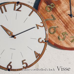 壁掛け電波時計 ウォールクロック Visse フィッセ cl-3707|shop-askm