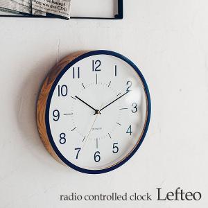 壁掛け電波時計 ウォールクロック Lefteo レフテオ cl-3709|shop-askm