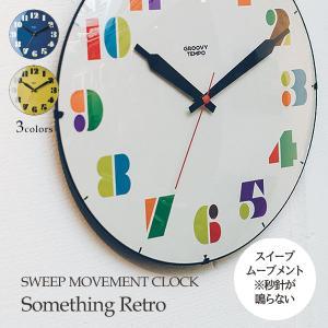 壁掛け時計 ウォールクロック  Something Retro サムシングレトロ スイープ 音が鳴らない cl-3710|shop-askm
