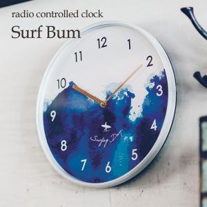 壁掛け電波時計 ウォールクロック Surf Bum サーフバム cl-3716|shop-askm