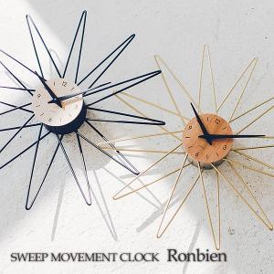 壁掛け時計 ウォールクロック  Ronbien ロンビエン スイープ 音が鳴らない cl-3720|shop-askm